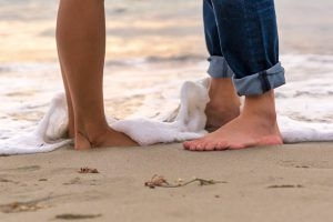para boso na plaży